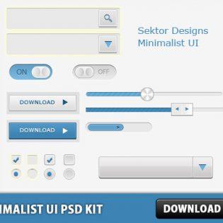 Minimalist UI PSD Kit