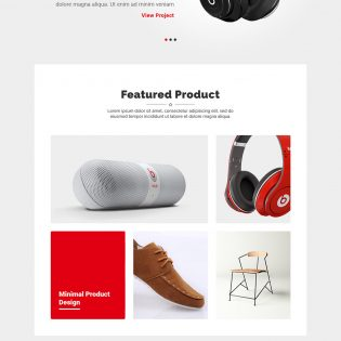 Minimalistic Product Landing Page Template Free PSD