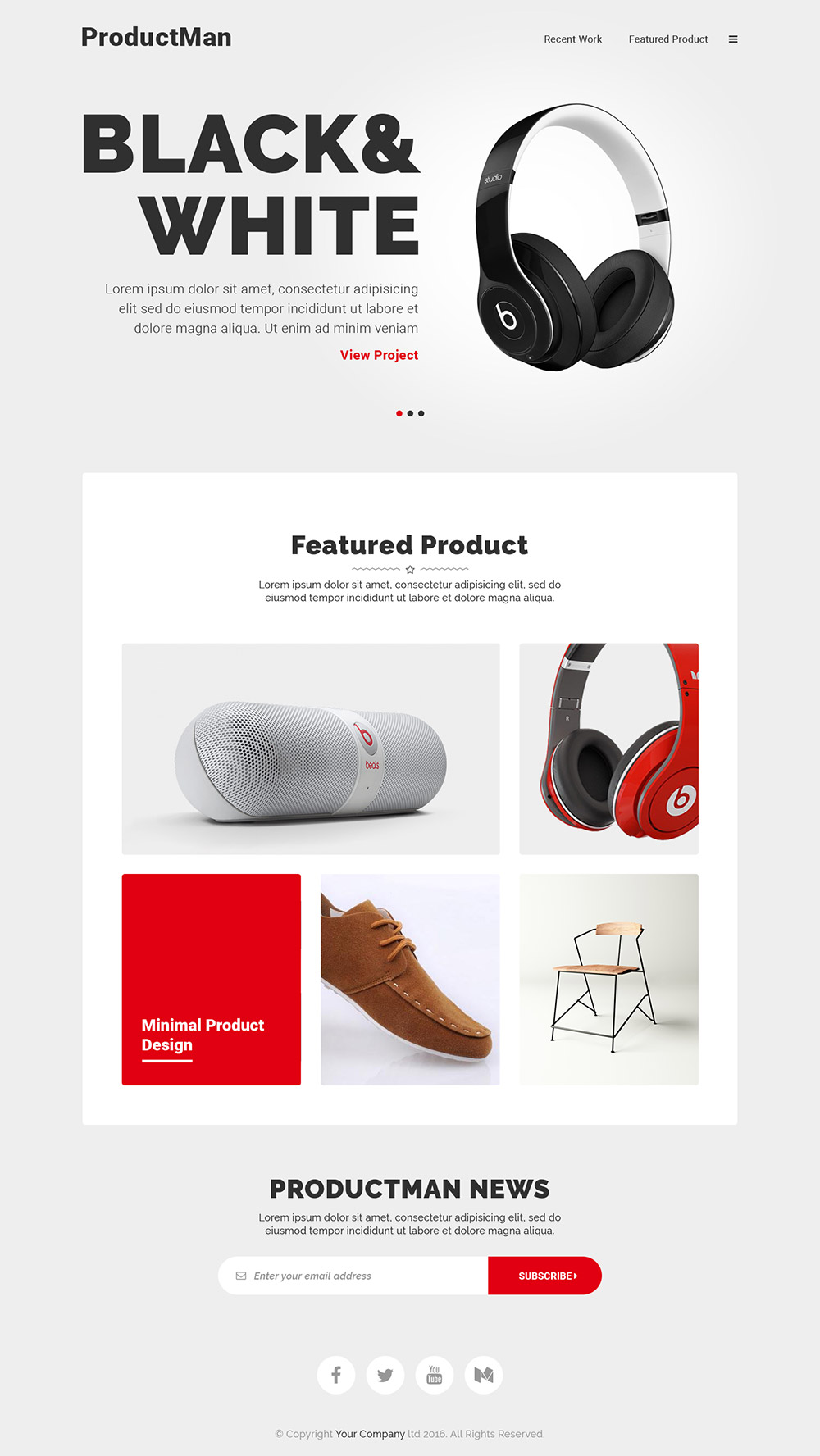 minimalistic product landing page template free psd download download psd. Black Bedroom Furniture Sets. Home Design Ideas