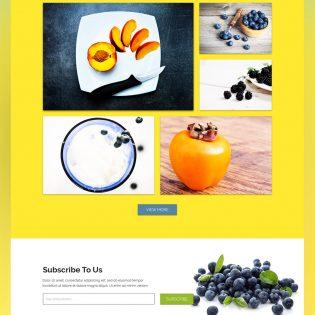 Minimalistic Vibrant Food Blog Template Free PSD