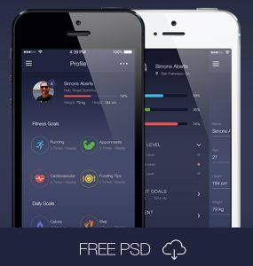 Mobile Fitness App Interface Kit PSD workout, User Profile, User Interface, unique, ui set, ui kit, UI elements, UI, Tracker, TImer, Stylish, strength, Step, stats, set, run, Resources, report, Quality, PSD Set, psd kit, Profile, pack, original, new, Modern, Mobile App, Mobile, log, Kit, Interface, health, gym, GUI Set, GUI kit, GUI, Graphical User Interface, graph, goals, gain, full app, Fresh, Freebie, Free PSD, free app, Free, freak, fitness tracker, fitness, fit, exercise, exercies, Elements, Download, detailed, Design Resources, Design Elements, Design, Dark, Creative, Counter, Clean, calorie, Blue, Black, Application, App,