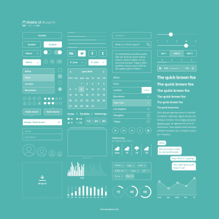 Mobile UI Blueprint Free PSD