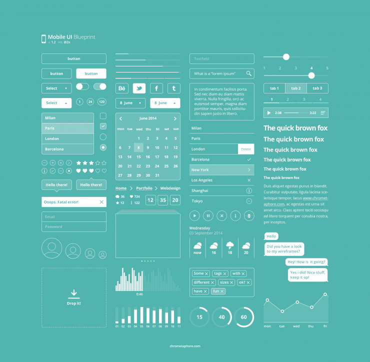 Mobile UI Blueprint Free PSD Web Resources Web Elements Web Design Elements Web weather User Interface User ui set ui kit UI elements UI tabs Sliders Resources Rating Player Phone UI Mobile Interface GUI Set GUI kit GUI graphs Graphical User Interface Elements Design Resources Design Elements Calendar Buttons blueprint Bar