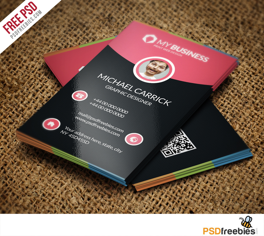 Free Business Card Templates PSD Download PSD - Free business card template download