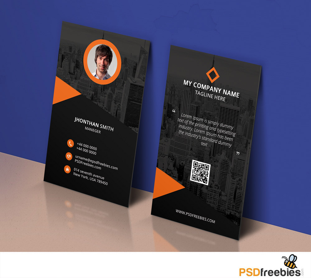 Modern corporate business card template psd download psd for Free business card templates psd