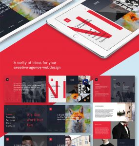 Modern Creative Agency Website Template Free PSD