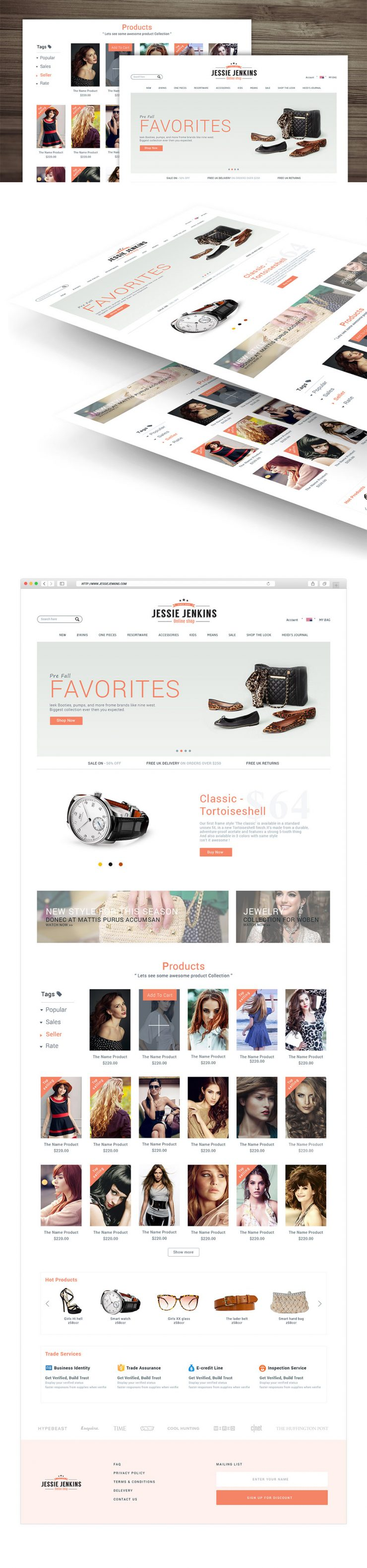 Modern Premium eCommerce Website Free PSD Template
