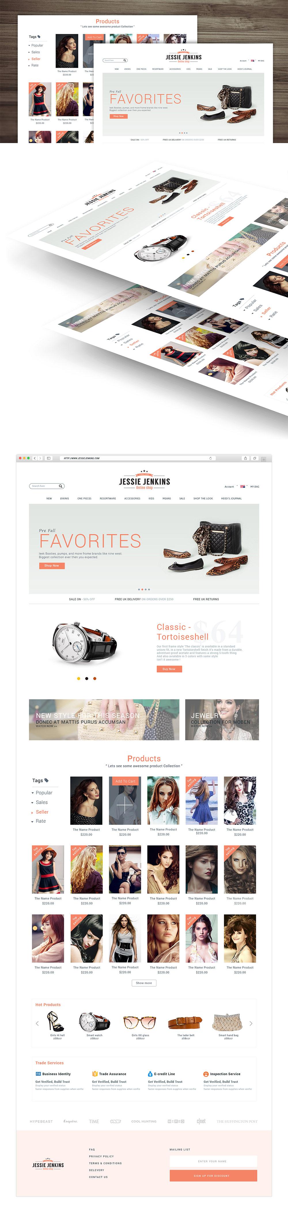 Modern Premium eCommerce Website Free PSD Template Download ...