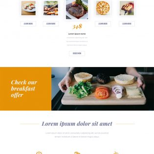 Modern Restaurant Website Free PSD Template
