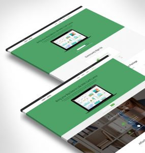 Modern and Clean One Page Free PSD Template