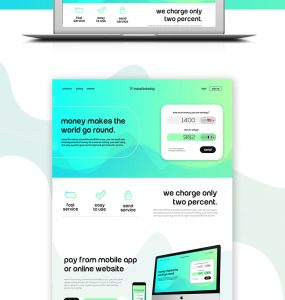 Money Transfer Website Template Free PSD