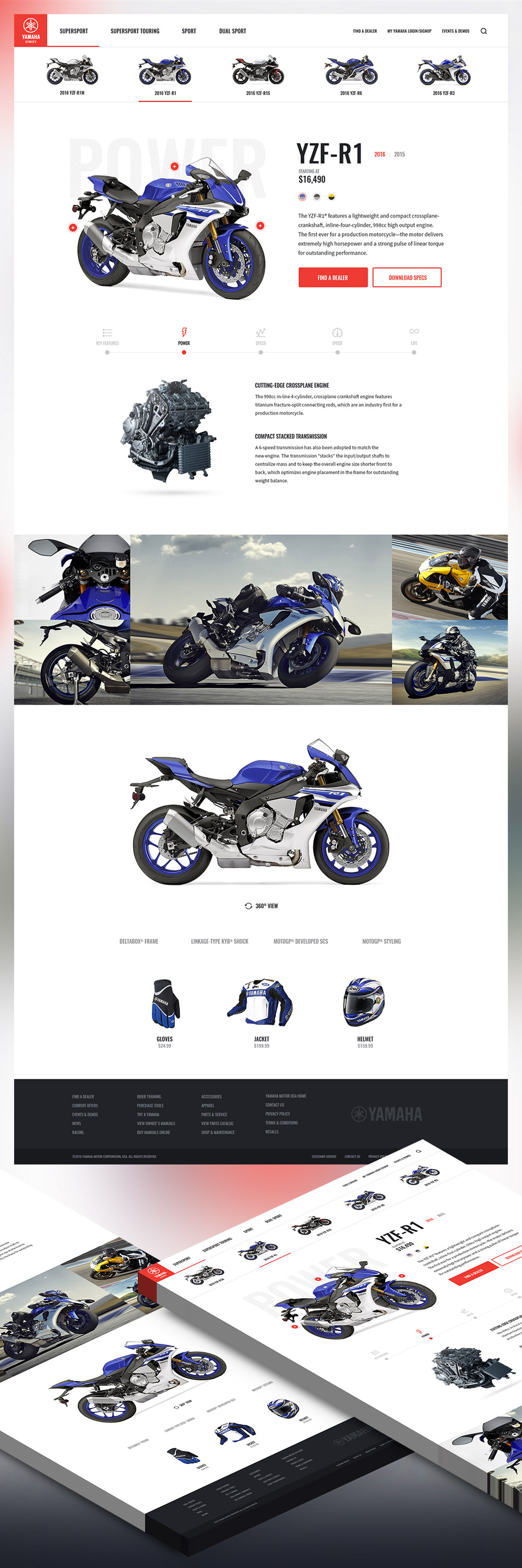 Motor bike shop free psd website template download psd for Free microsite templates
