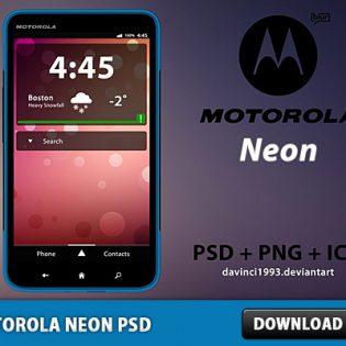 Motorola Neon Free PSD