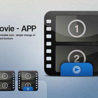 Movie Icon PSD