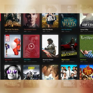 Movies Widget UI PSD Freebie