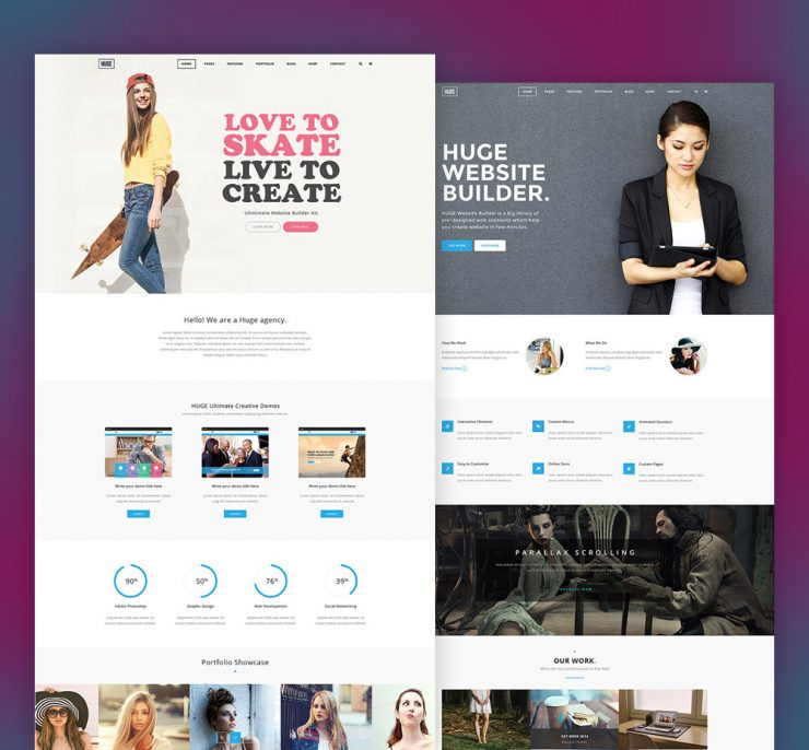 Multi-Purpose Corporate and Business Website Template Free PSD