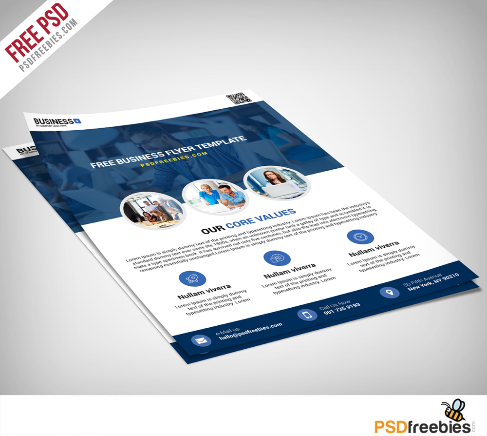 Multipurpose business flyer free psd template download for Psd brochure templates free download