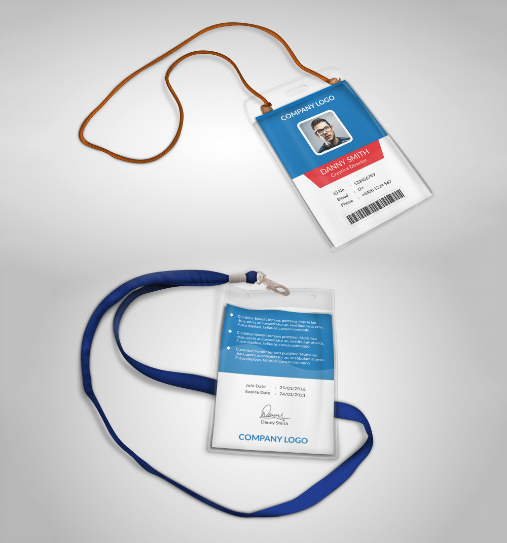 Multipurpose Company ID Card Free PSD Template Download - Download PSD