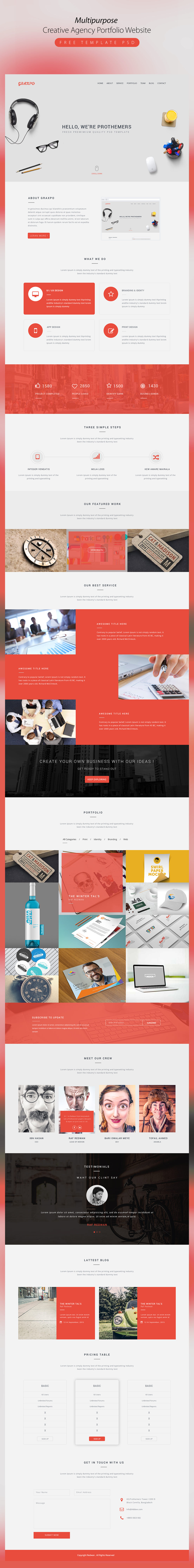 High Quality 50+ Free Corporate And Business Web Templates PSD Download Download PSD