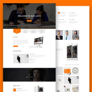 Multipurpose Website Template Free PSD