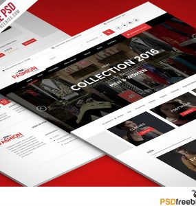 Multipurpose eCommerce Fashion Website free PSD Template