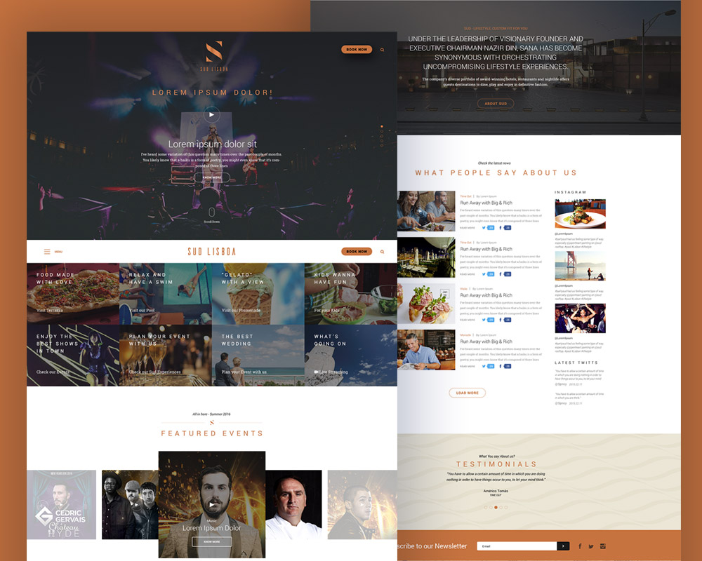 Music Event Website Free PSD Template