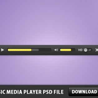 Music Media Player Free PSD File