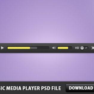 Music Media Player Free PSD File