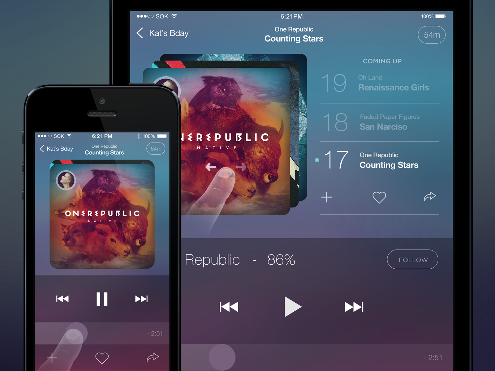 music player app for ios psd file