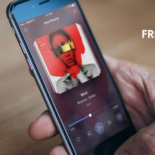 Music Player Application Screen Free PSD