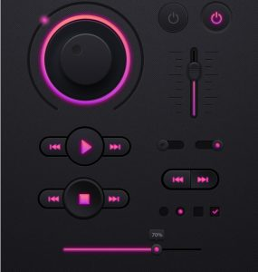 Dark Music Player UI kit PSD Web Resources, Web Player, Web Elements, Web Design Elements, Web, Volume, Video Player, User Interface, unique, ui set, ui kit, UI elements, UI, Stylish, Stop, Sound, Resources, Quality, Player Skin, Player, Play, pack, original, new, Music Player, Music, Mp3 Player, Modern, Media Player, Interface, hi-res, HD Player, HD, GUI Set, GUI kit, GUI, Graphical User Interface, Fresh, FLV Player, Flash Player, Elements, Digital Media Player, detailed, Design Resources, Design Elements, Design, dark ui, Dark Theme, Dark, Creative, Clean, Audio Player,