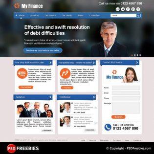 My Finance Business Corporate PSD Theme