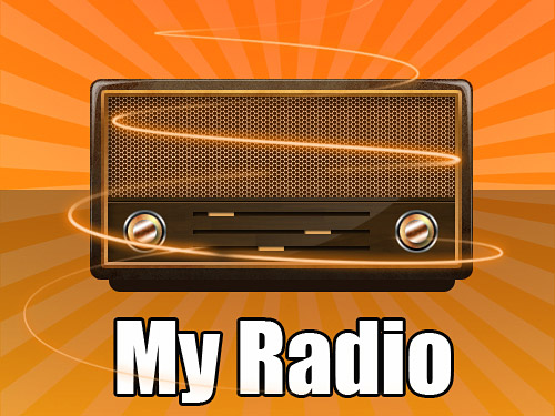 My Radio PSD Radio, PSD, Objects, Music, Layered PSDs, Icons, Glossy, Audio,