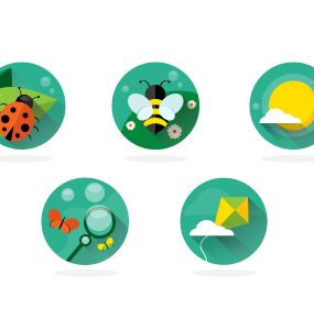 Nature Spring Long Shadow Flat Icon Set PSD Web Resources Web Elements weather Sun Resources PSD Set PSD Icons PSD Nature long shadow Lady Bug Icons Icon Set Icon PSD Icon Green Freebie Free PSD Free Icons Free Icon Free Flat Elements Download Cloud butterfly Bug bee