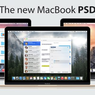 New Apple MacBook 2015 PSD