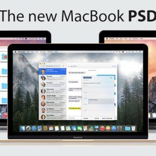 New Apple MacBook 2015 PSD