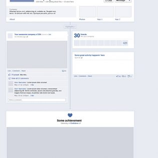 New Facebook Timeline PSD