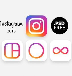 New Instagram 2016 Icon Free PSD