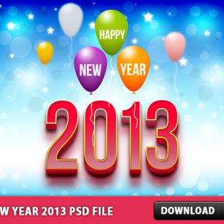 New Year 2013 Free PSD File