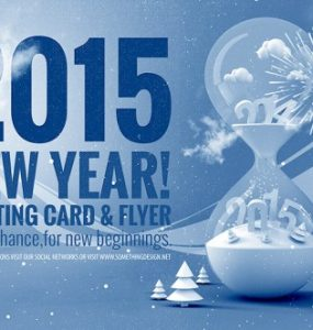 New Year 2015 Greeting Template PSD wishes unique Time Template Stylish Snow Resources Quality Print original New Year new Modern hour glass Holidays hi-res HD greeting Graphics Fresh Freebie Free Resources Free PSD Flyer detailed Design Creative Clean Celebration Card 2015