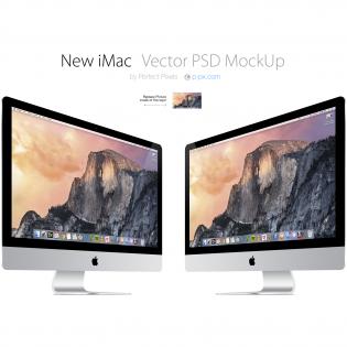 New iMac Mockup Template Free PSD