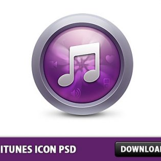 New iTunes Icon Free PSD