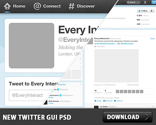 new twitter gui free psd file download download psd. Black Bedroom Furniture Sets. Home Design Ideas