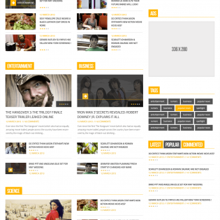 News Magazine Homepage PSD Template