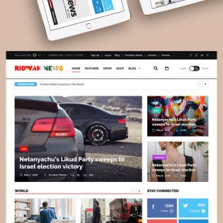 News Website Home Page Template Free PSD