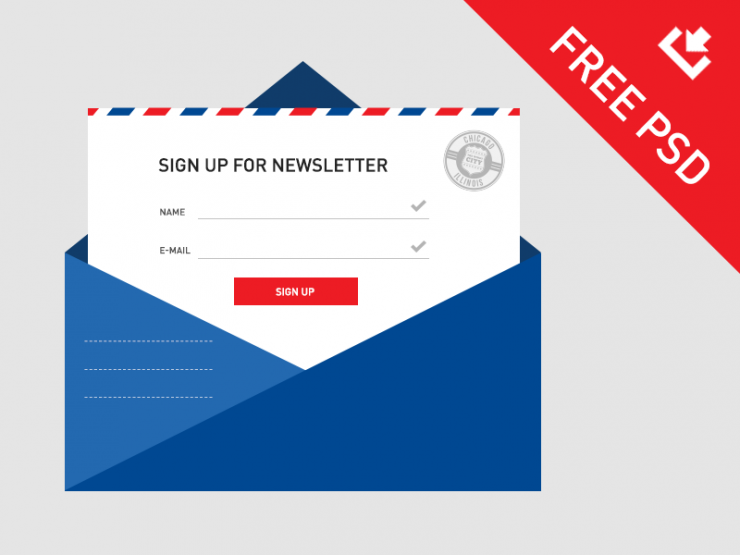 Newsletter Sign Up Template PSD Design