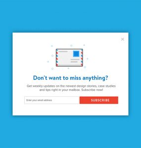 Newsletter Subscription Popup Template Free PSD