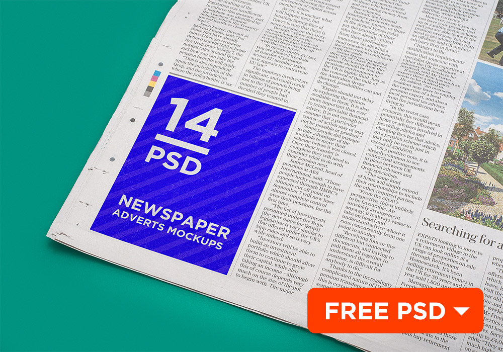 newspaper advert mockup template free psd download download psd. Black Bedroom Furniture Sets. Home Design Ideas