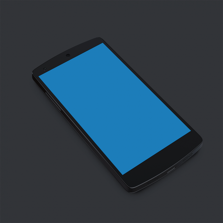 Nexus 5 Black Mobile Handset Psd Download Download Psd