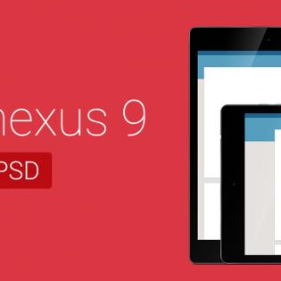 Nexus 9 PSD Mock Template